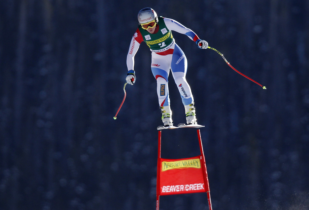 . Marianne Kaufmann-Abderhalden of Switzerland competes during the Audi FIS Alpine Ski World Cup Women\'s Downhill on November 29, 2013 in Beaver Creek, Colorado. (Photo by Alexis Boichard/Agence Zoom/Getty Images)