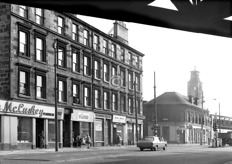 Gorbals St, east side at the railway bridge.    September 1973