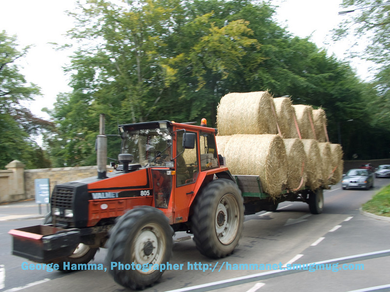 Moving the hay at Alnwich.