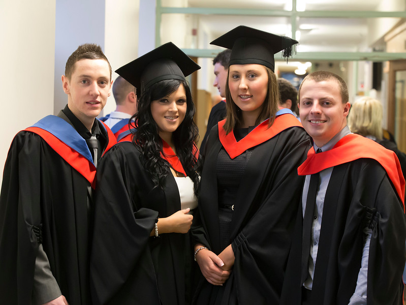 Pictured are Cillian Daly, Waterford, Ashling Flannagan, Westmeath, Megan Fitzgerald, Kilkenny and Michael Howlett, Waterford who graduated Higher Certificate in Business in Tourism. Picture: Patrick Browne.