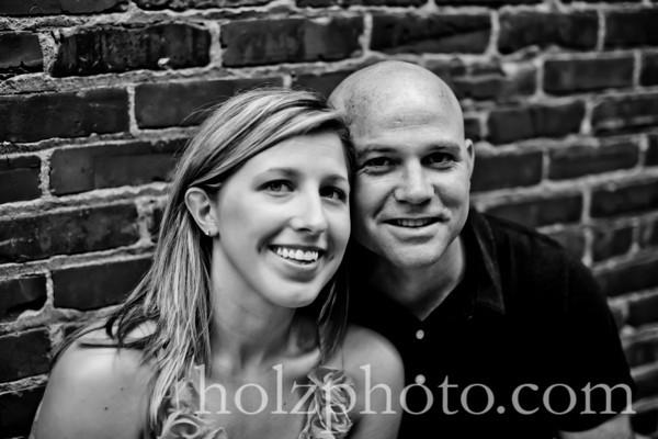 Sarah and Eric B/W Engagement Photos Louisville, KY