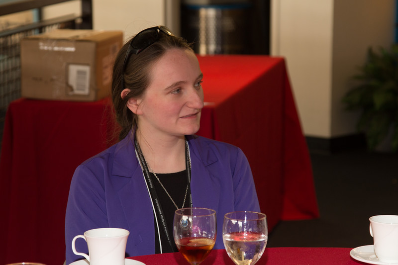 """Jen Dimov (2014 Scholar) -- An award luncheon, """"Dr. John Mather Nobel Scholars Program Award"""", as part of the National Space Grant Foundation. College Park Aviation Museum, College Park, MD, August 2, 2019."""