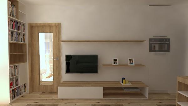 Rekonstrukce malého panelového bytu - vizualizace