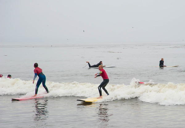 Surfing in Capitola
