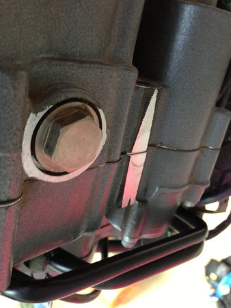 Second oil change KTM 990 R Adventure 8/24/13