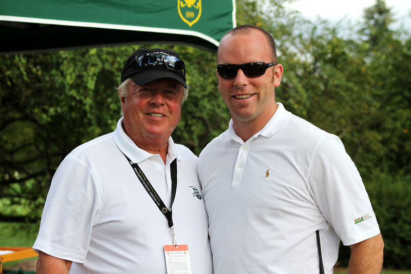 North Shore CC Western Amateur Committee Co-Chair Philip FitzSimons with WGA Associate Tournament Director Patrick Timson.