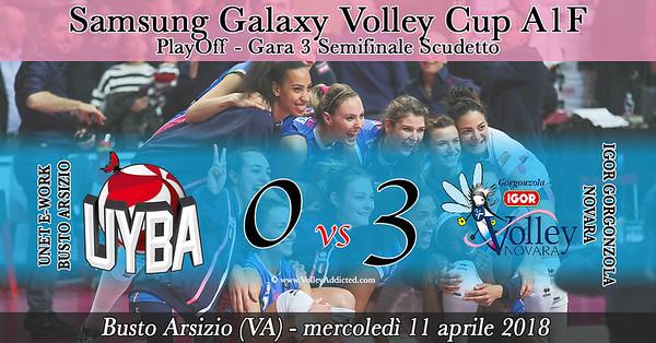 PlayOff - Semifinale Gara 3: Unet E-Work Busto Arsizio - Igor Gorgonzola Novara