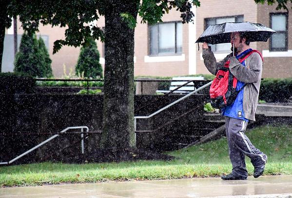 9/12/2018 Mike Orazzi | Staff Rain on North Main Street in Bristol Wednesday.