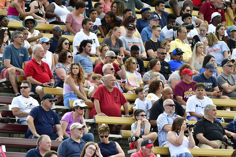 6/29/2019 Mike Orazzi | Staff  Fans during Saturday's Super 100 football game at Veterans Stadium in New Britain.
