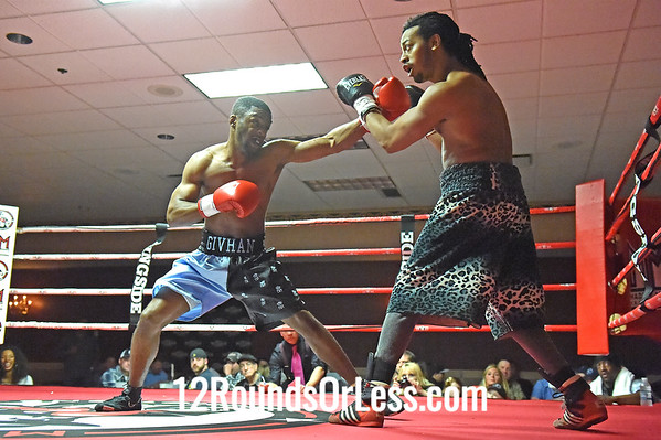 Bout 6 Nick Givhan, Kalamazoo, MI -vs- Cliff McPherson, Cleveland, OH, 147 lbs