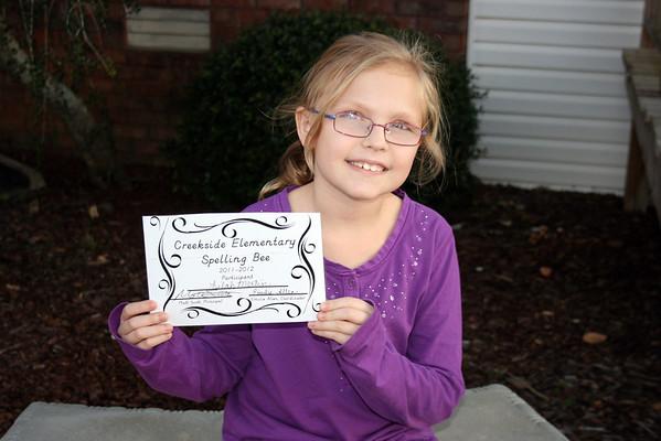 Lilah Spelling Bee 2011