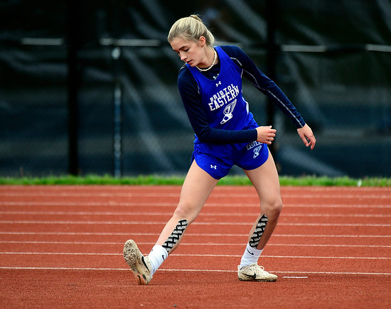 5/14/2019 Mike Orazzi | Staff Bristol Eastern's Ryley Plourde during Tuesday's city track meet at Eastern.