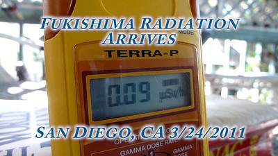 Fukushima Dai-ichi Radiation Arrives in San Diego 3/24/2011