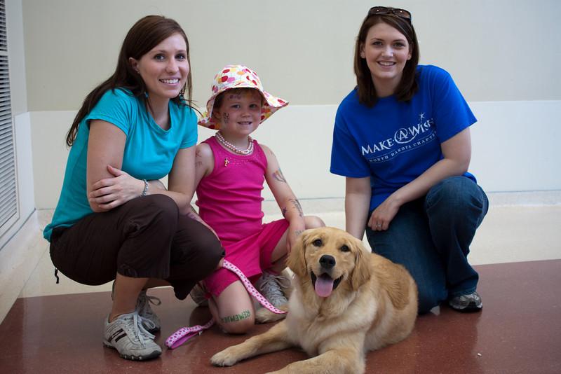 Make-A-Wish staff, Ellen, and Rosebud