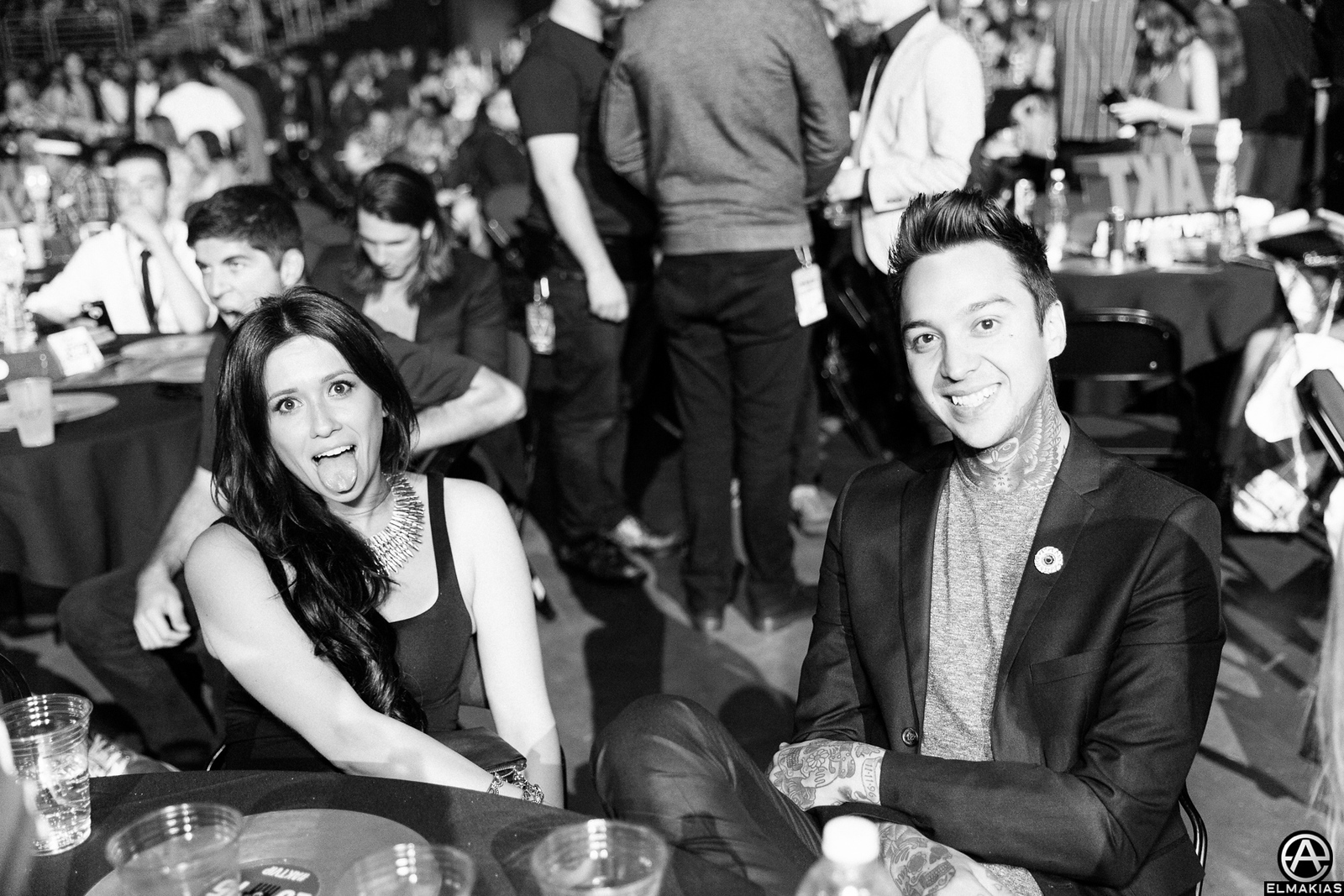 Tony Perry of Pierce The Veil and Erin Aschow at the Alternative Press Music Awards 2015 by Adam Elmakias
