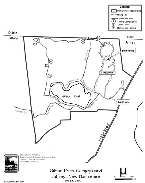 Monadnock State Park (Gilson Pond Remote Campsites)