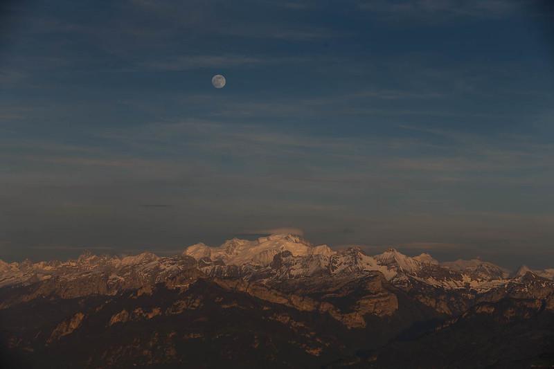 Salève pleine lune