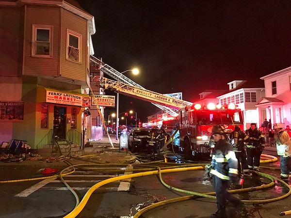 2 Alarm Structure Fire - 110 Ferry St, Everett, MA - 3/2/17