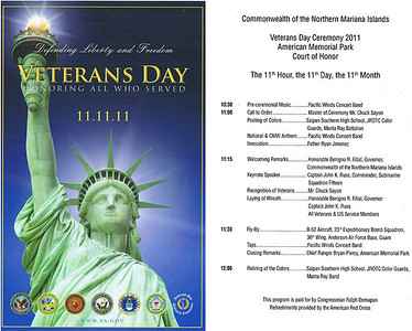 Veterans Day Saipan 2011