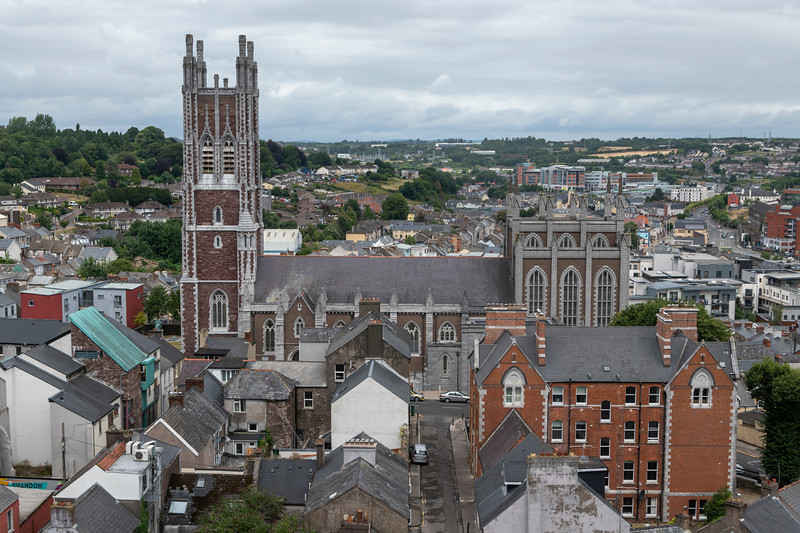 Aerial view of city, Shandon, Cork City, Ireland