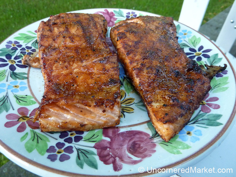 Grilled Salmon with an Asian Spicy Rub - Czech Republic
