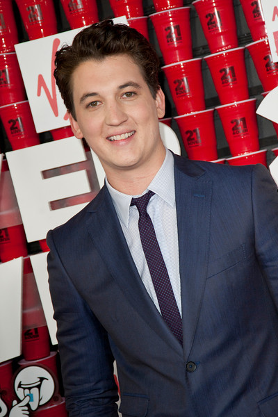 WESTWOOD, CA - FEBRUARY 21: Actor Miles Teller attends Relativity Media's '21 and Over' premiere at Westwood Village Theatre on Thursday, February 21, 2013 in Westwood, California. (Photo by Tom Sorensen/Moovieboy Pictures)