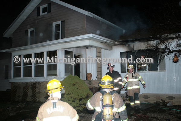 4/12/13 - Mason house fire, 3822 W. Columbia Rd