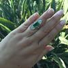 4.05ct Emerald and Old European Cut Diamond Ring 13