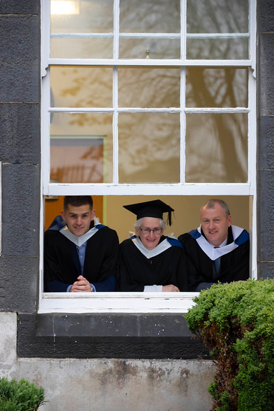 31/10/2019. Waterford Institute of Technology (WIT) Conferring Ceremonies. Pictured are Blake O'Connor Portlaw, Mary Baggott Ballymacarby and Michael Walsh Portlaw. Picture: Patrick Browne