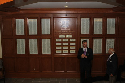 Donor Wall Unveiling Thatcher Hall 2014