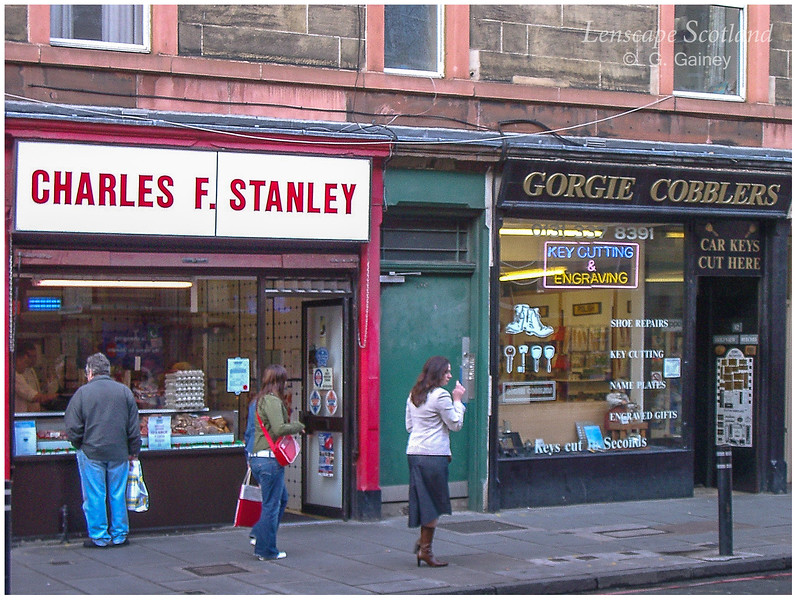 Stanley Butchers and Gorgie Cobblers, Gorgie Road  (2004)