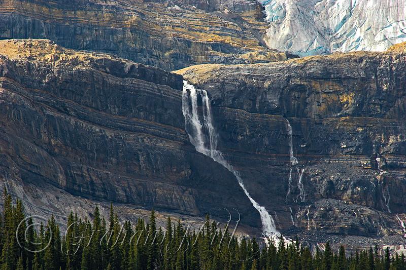 Waterfall above Bow Lake, Alberta