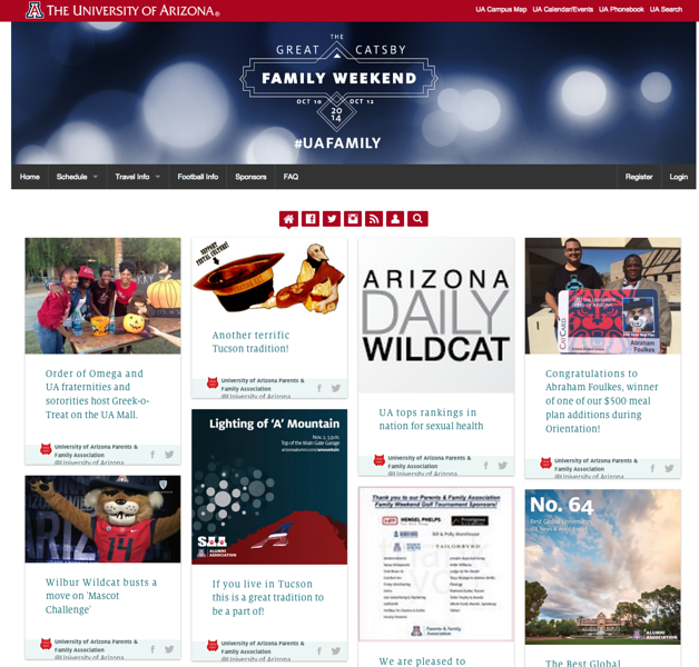 University of Arizona Family Weekend