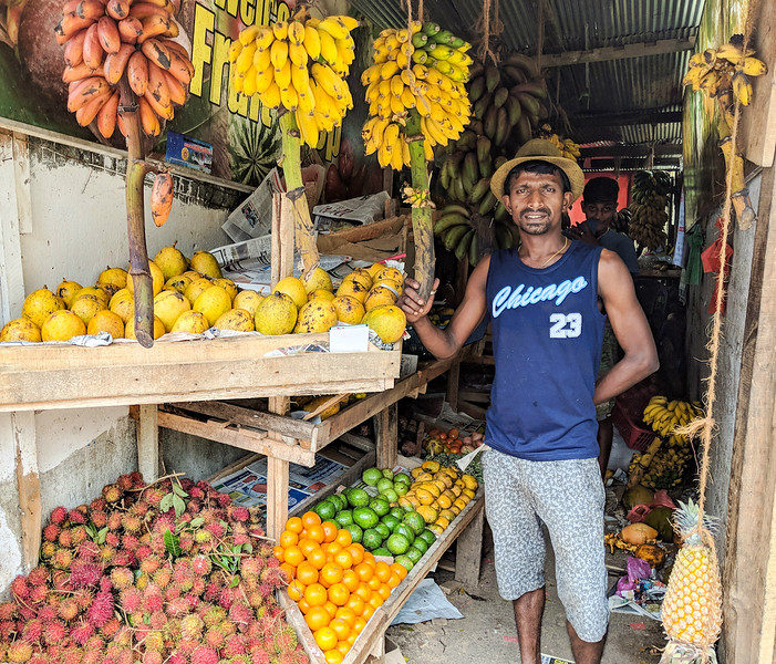 Affordable Beach Destination - fruit stall in Unawatuna