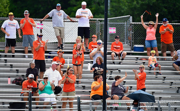 8/6/2019 Mike Orazzi | Staff Pennsylvania fans during their second game of the Little League Mid-Atlantic regional on Aug. 6, 2019 at Breen Field in Bristol, Ct.