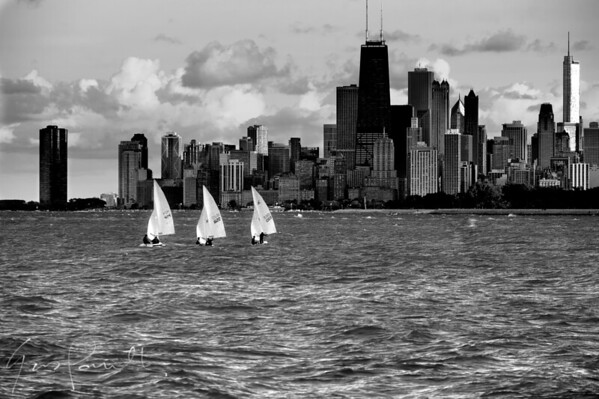 Montrose Harbor Sailboats Chicago