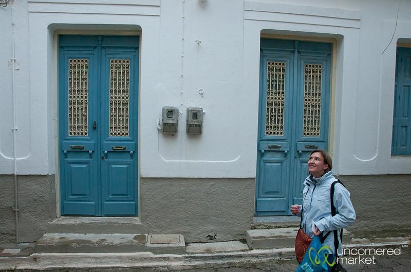 Audrey Walking Through Kritsa, Crete