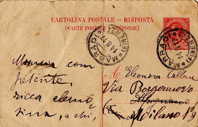 Dino Campana to Eleonora Tallone