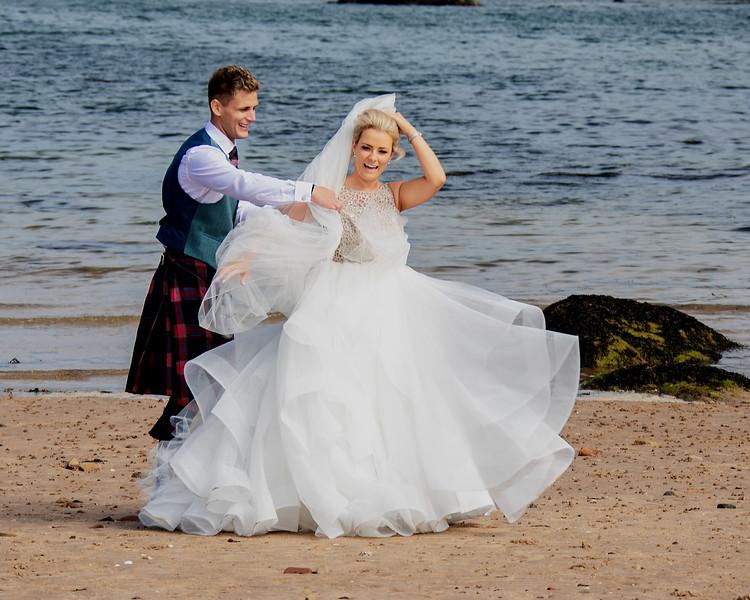 Beach Wedding Photos St Andrews