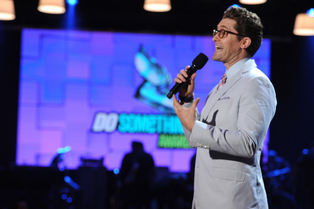 . Actor Matthew Morrison speaks onstage at the DoSomething.org and VH1\'s 2013 Do Something Awards at Avalon on July 31, 2013 in Hollywood, California.  (Photo by Kevin Winter/Getty Images)