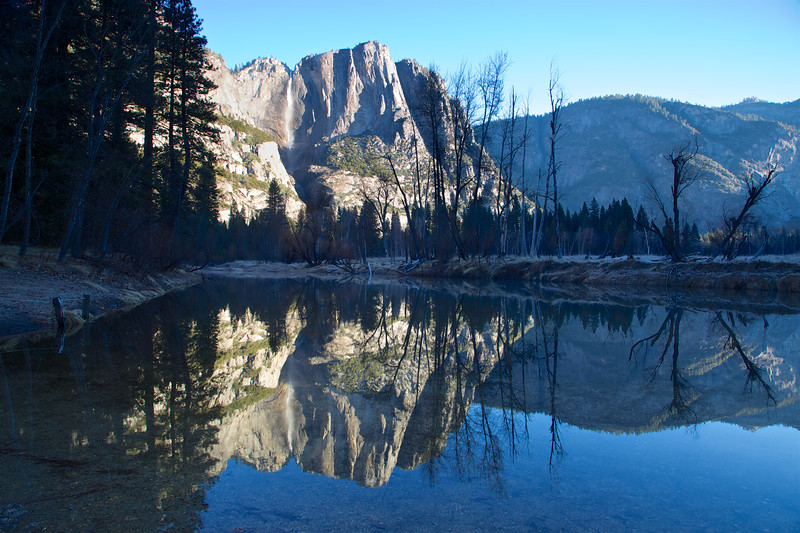 YOS-140224-0004 Reflection of Yosemite Falls