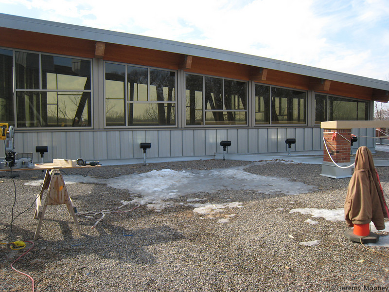 Roof/outside of the top of the dining center