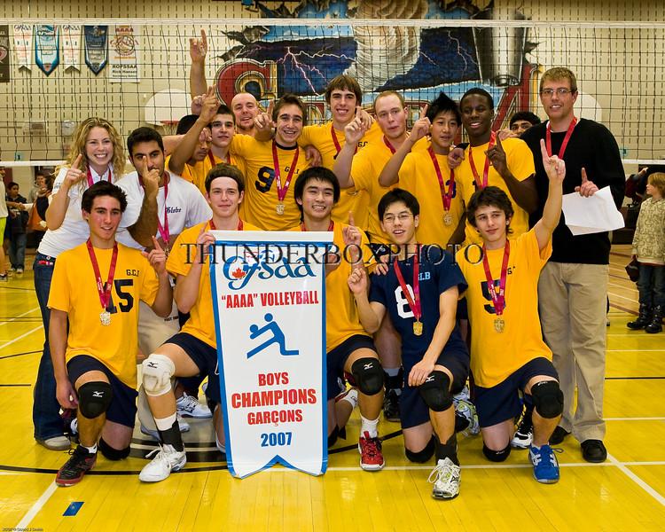 2007 OFSAA Boys AAAA Volleyball