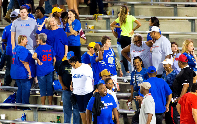 The Tulsa fans -- disappointed, but knowing their team played very well.