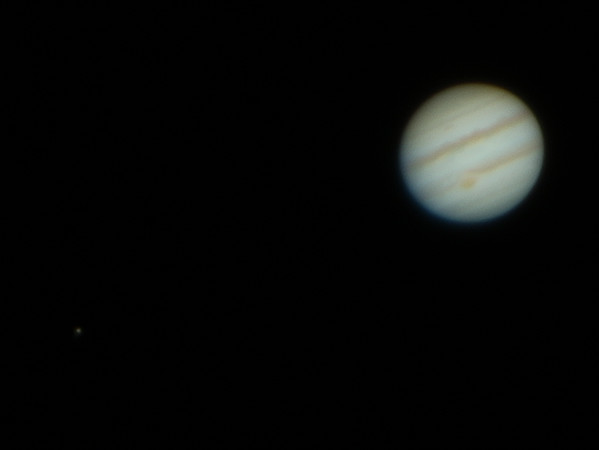 Jupiter  and Io - 19/3/2015 (Processed cropped stack)