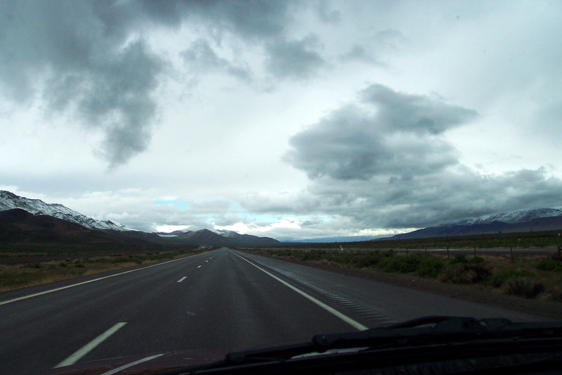 Westward Bound on Interstate 80 Just East of Elko Nevada