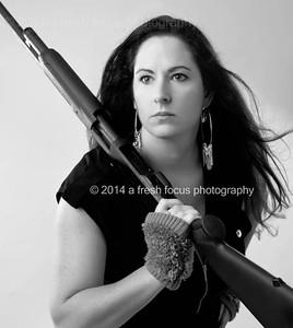 A Girl and a Gun Portraits