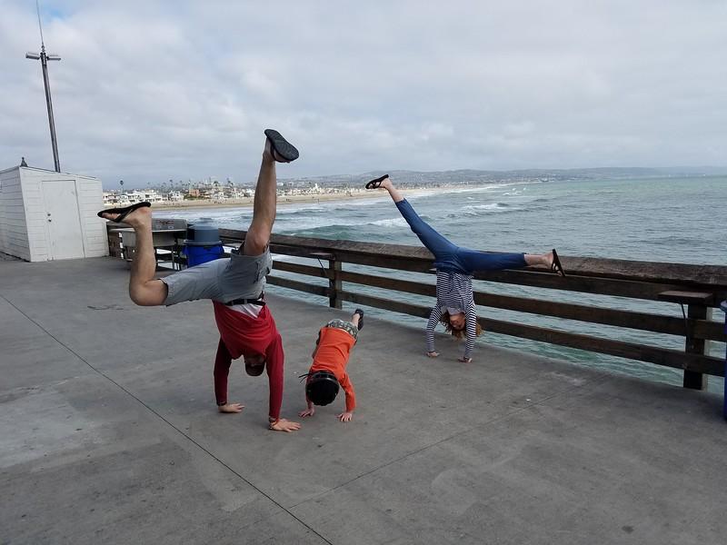 Stacee Calderon, Andres Calderon, Samuel Calderon - Newport Beach Pier - Newport Beach - USA