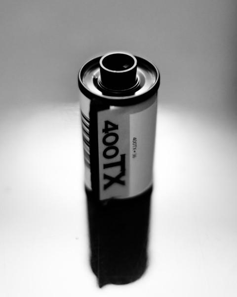 finished roll of film; tri-x; kodak