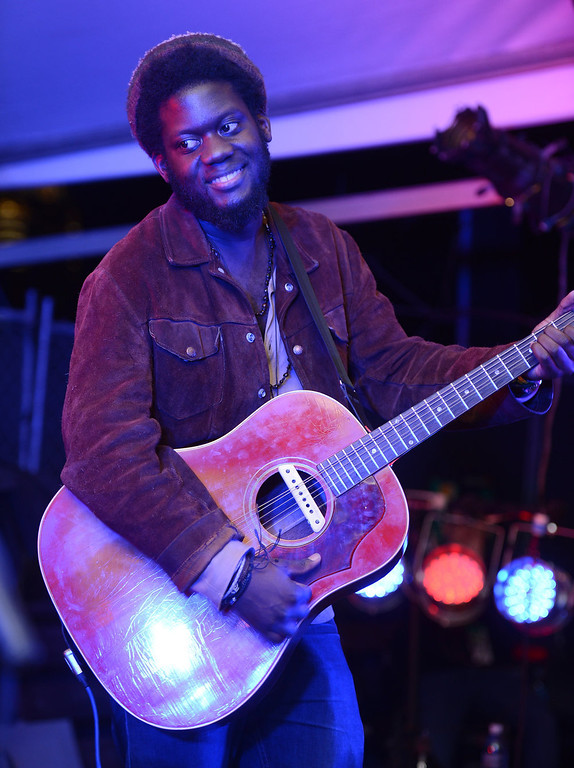 . Michael Kiwanuka performs on stage at the Filter Magazine Showcase during the 2013 SXSW Music, Film + Interactive Festival at Clive Bar on March 13, 2013 in Austin, Texas.  (Photo by Michael Buckner/Getty Images for SXSW)